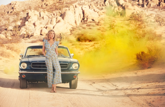 Kate Hudson in her new ready-to-wear apparel line Happy X Nature.