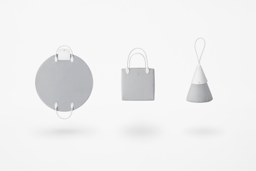 "The Longchamp x Nendo ""Le Pliage"" bag."