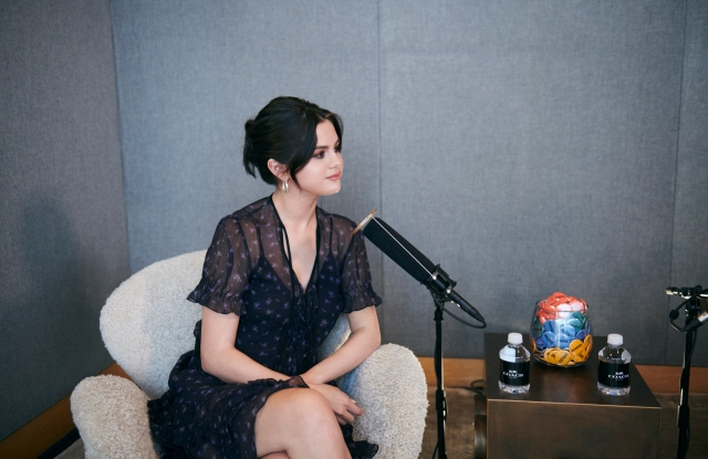 Selena Gomez will be featured on Coach's inaugural podcast on Wednesday.