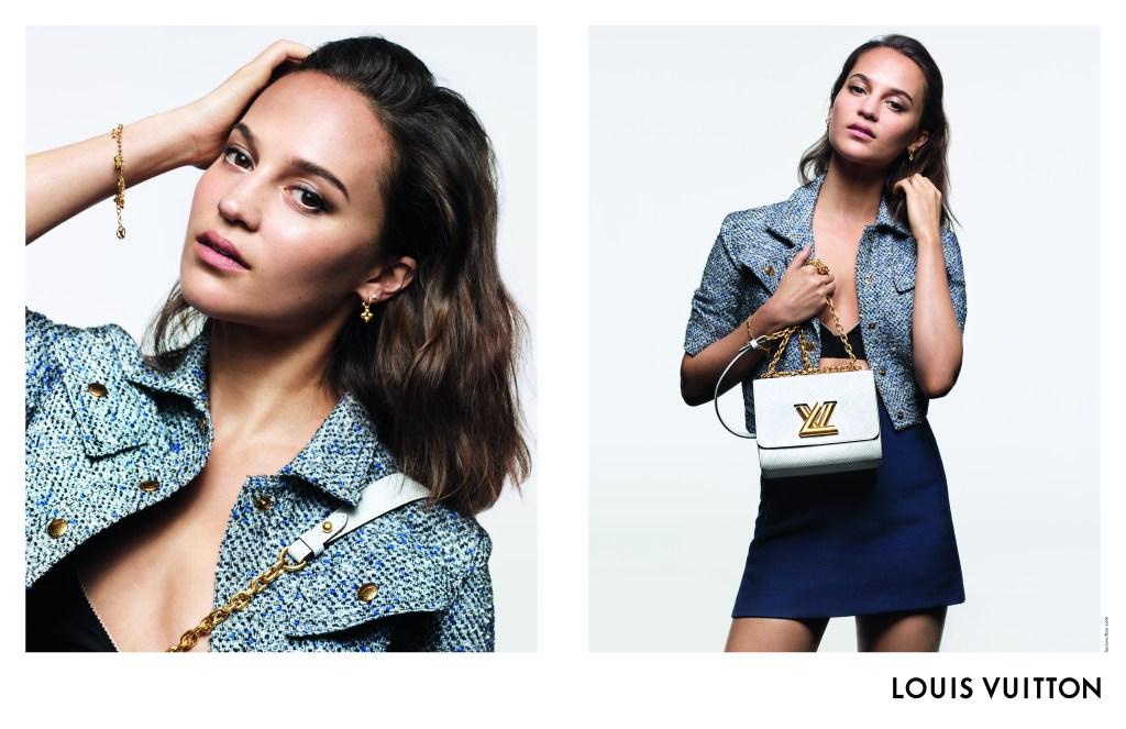 Alicia Vikander in the Louis Vuitton handbag campaign.