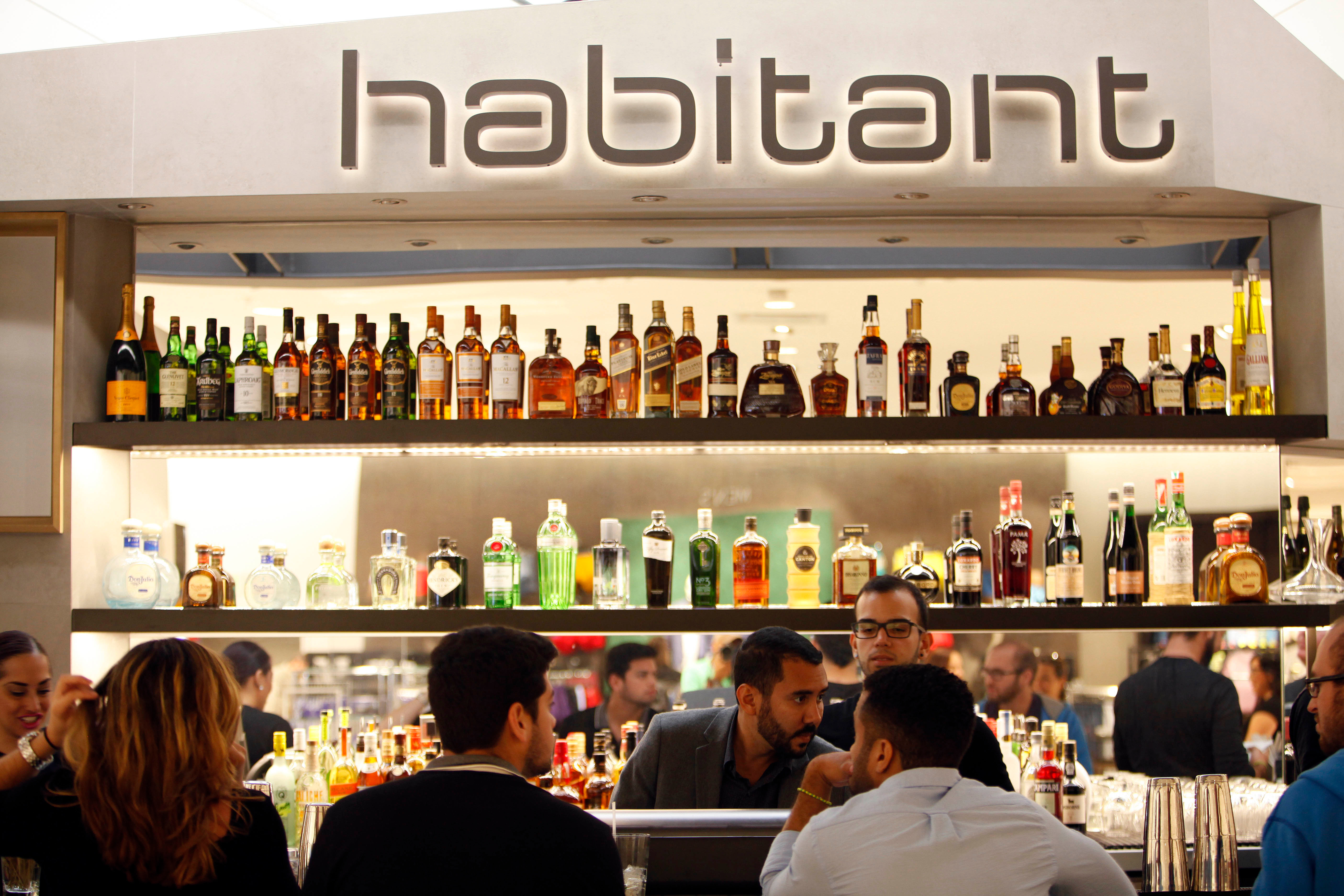 Customers order at the Habitant Restaurant inside Nordstrom, inside the newly built, The Mall of San Juan, in San Juan, Puerto Rico. Many Puerto Ricans do seem to have been busy shopping while the government struggles with $73 billion in public debt and U.S. investors worry some of island's public agencies could go bankruptPuerto Rico Luxury Shopping, San Juan, Puerto Rico