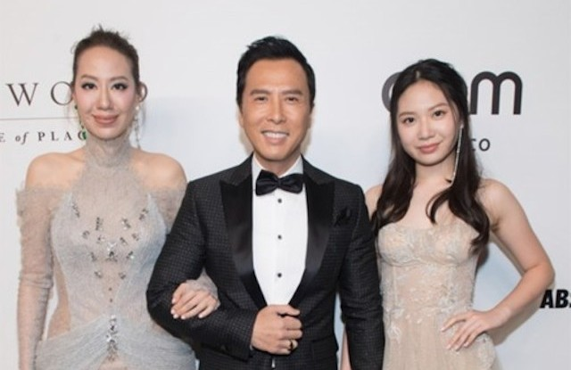 Donnie Yen and family at the amfAR Hong Kong 2019 gala.
