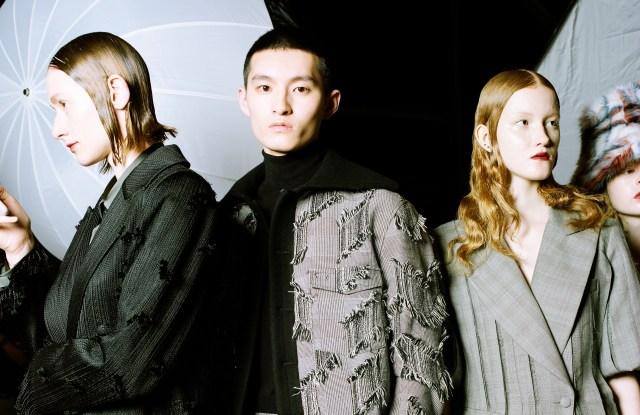 Xu Zhi fall 2019 collection backstage at Shanghai Fashion Week