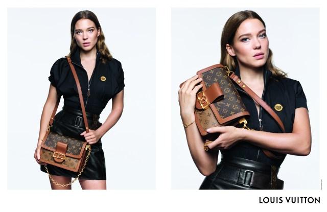 Léa Seydoux in the Louis Vuitton handbag campaign in 2019.