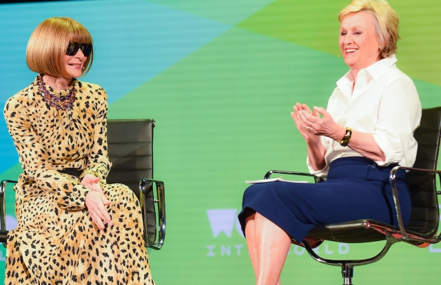 Anna Wintour, Editor-in-Chief of Vogue and Artistic Director at Condé Nast and Tina Brown, Founder and CEO, Tina Brown Live Media/Women in the World, on 'A LIFE IN VOGUE' at The 2019 Women In The World Summit in New York City; 4/12/2019