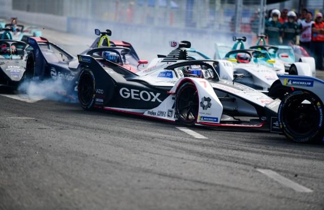 A Geox Dragon Racing car in Rome.