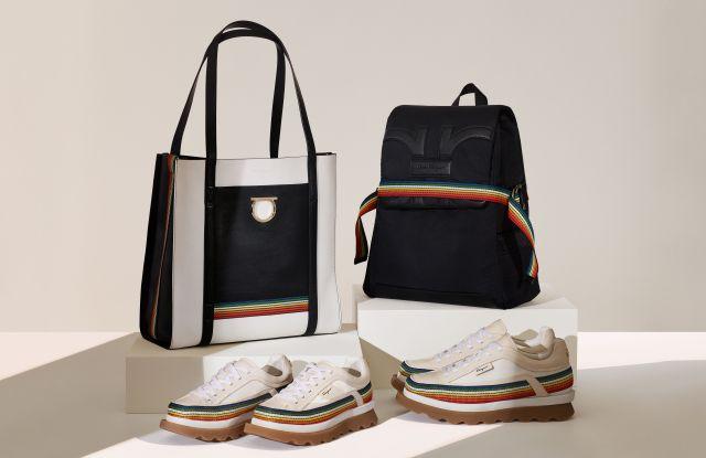 Salvatore Ferragamo's '42 Degrees' capsule collection of eco-friendly accessories.