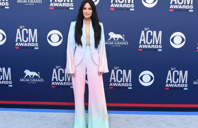Kacey Musgraves arrives at the 54th annual Academy of Country Music Awards at the MGM Grand Garden Arena, in Las Vegas54th Annual Academy of Country Music Awards - Arrivals, Las Vegas, USA - 07 Apr 2019
