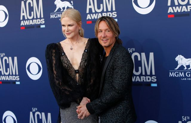 Nicole Kidman (L) and husband Australian singer-songwriter Keith Urban (R) arrive for the 54th Annual Academy of Country Music Awards at the MGM Grand Garden Arena in Las Vegas, Nevada, USA, 07 April 2019.54th Annual Academy Of Country Music Awards, Las Vegas, USA - 07 Apr 2019
