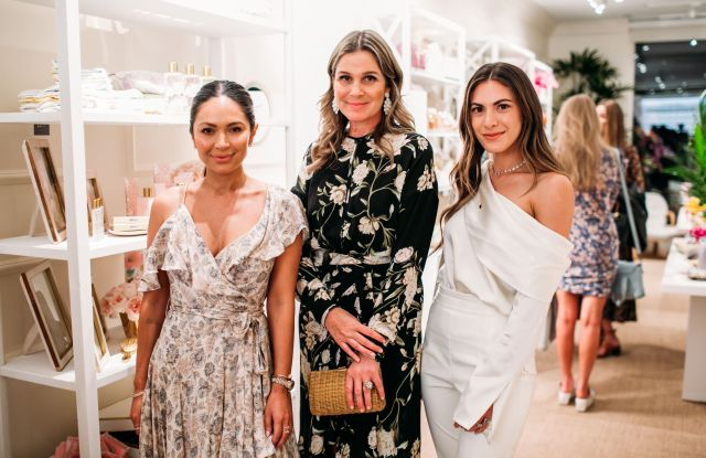 Aerin Lauder, center, with the founders of Summer Fridays, Marianna Hewitt, left, and Lauren Gores, right.