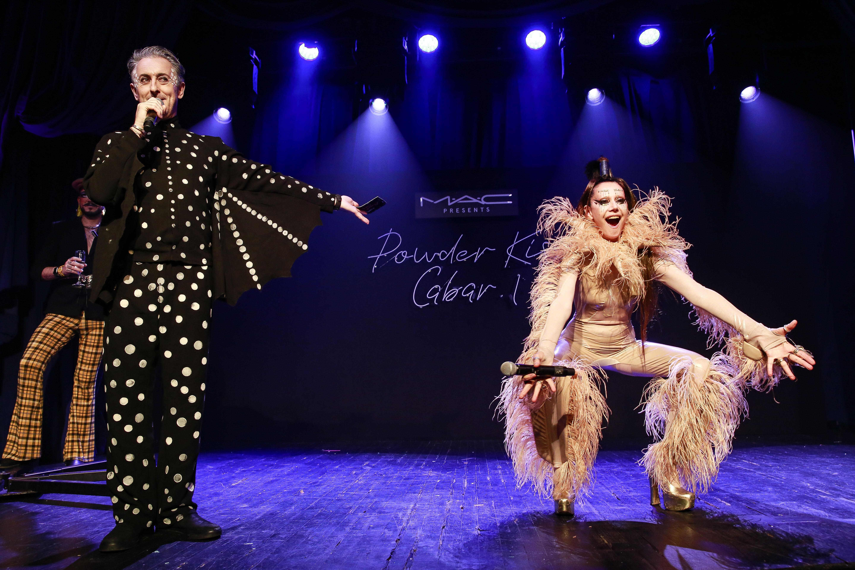 Alan Cumming and Susanne Bartsch at MAC's Powder Kiss cabaret show.