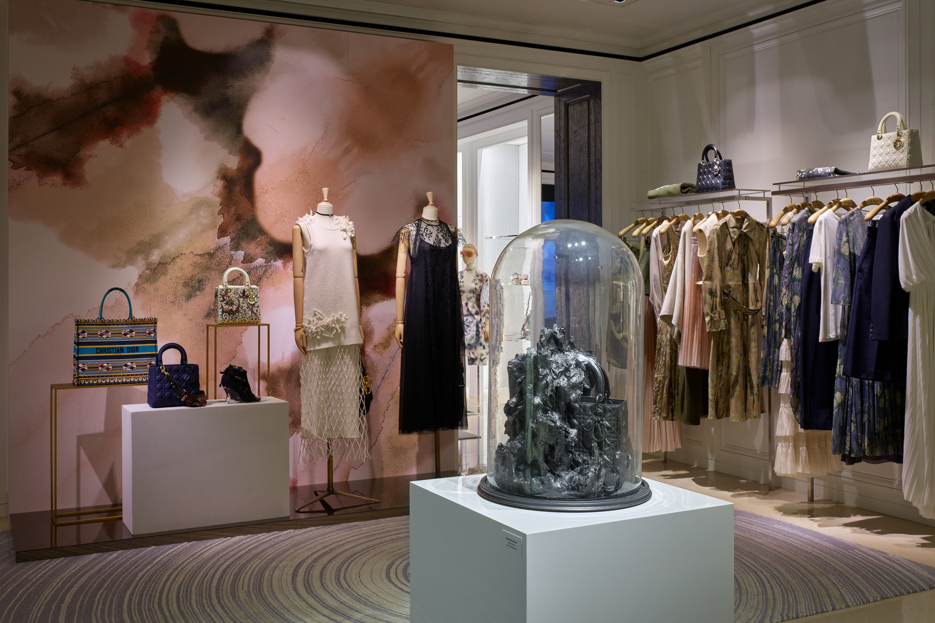 """Lady Dior As Seen By"" exhibit by Li Shurui at Art Basel Hong Kong."