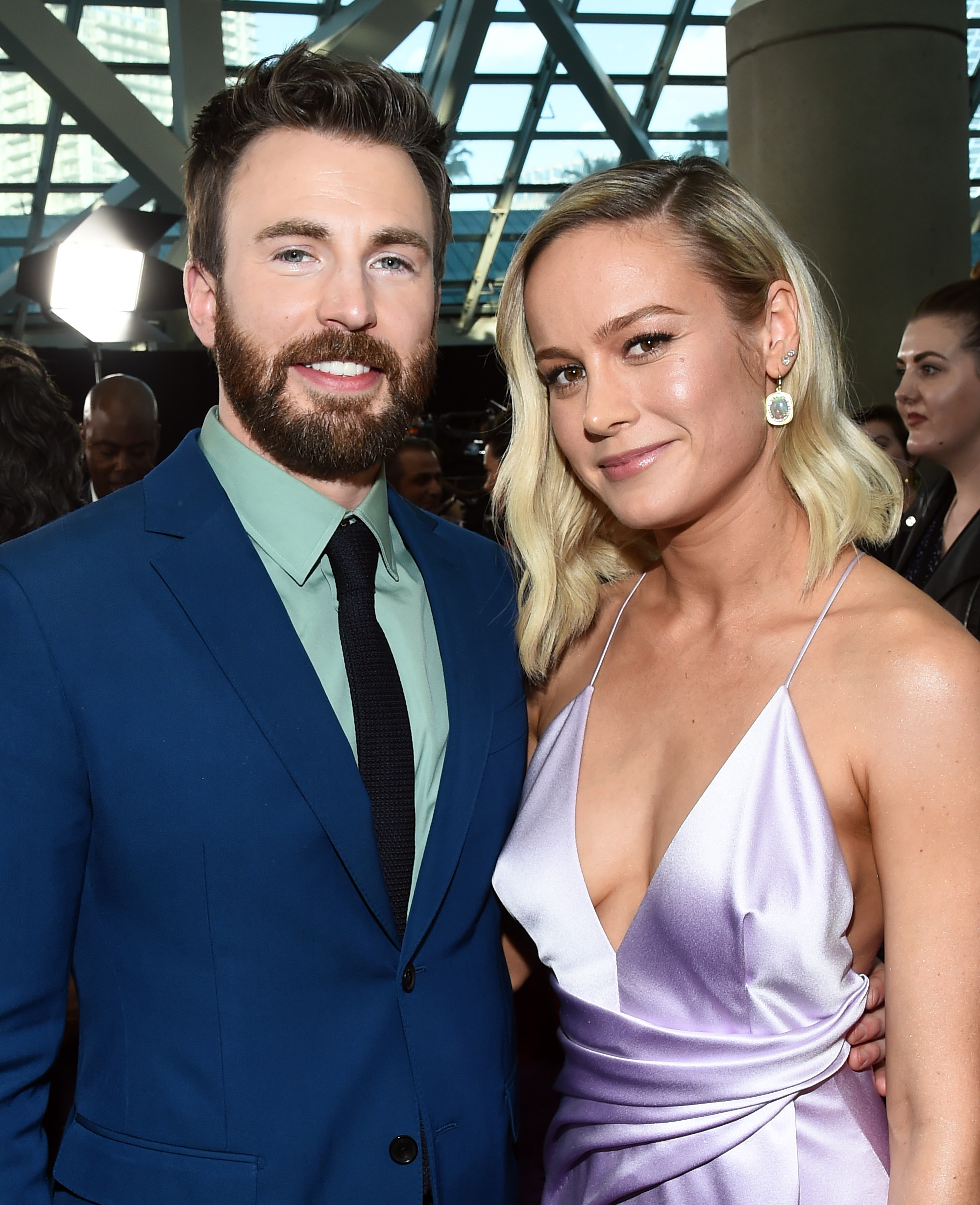 Chris Evans and Brie Larson'Avengers: Endgame' Film Premiere, Arrivals, LA Convention Center, Los Angeles, USA - 22 Apr 2019