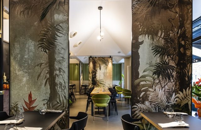 Inside Bakker restaurant.