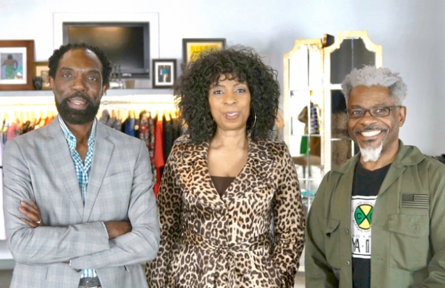 Kevan Hall, Anela Dean and TJ Walker, founders of the Black Design Collective.
