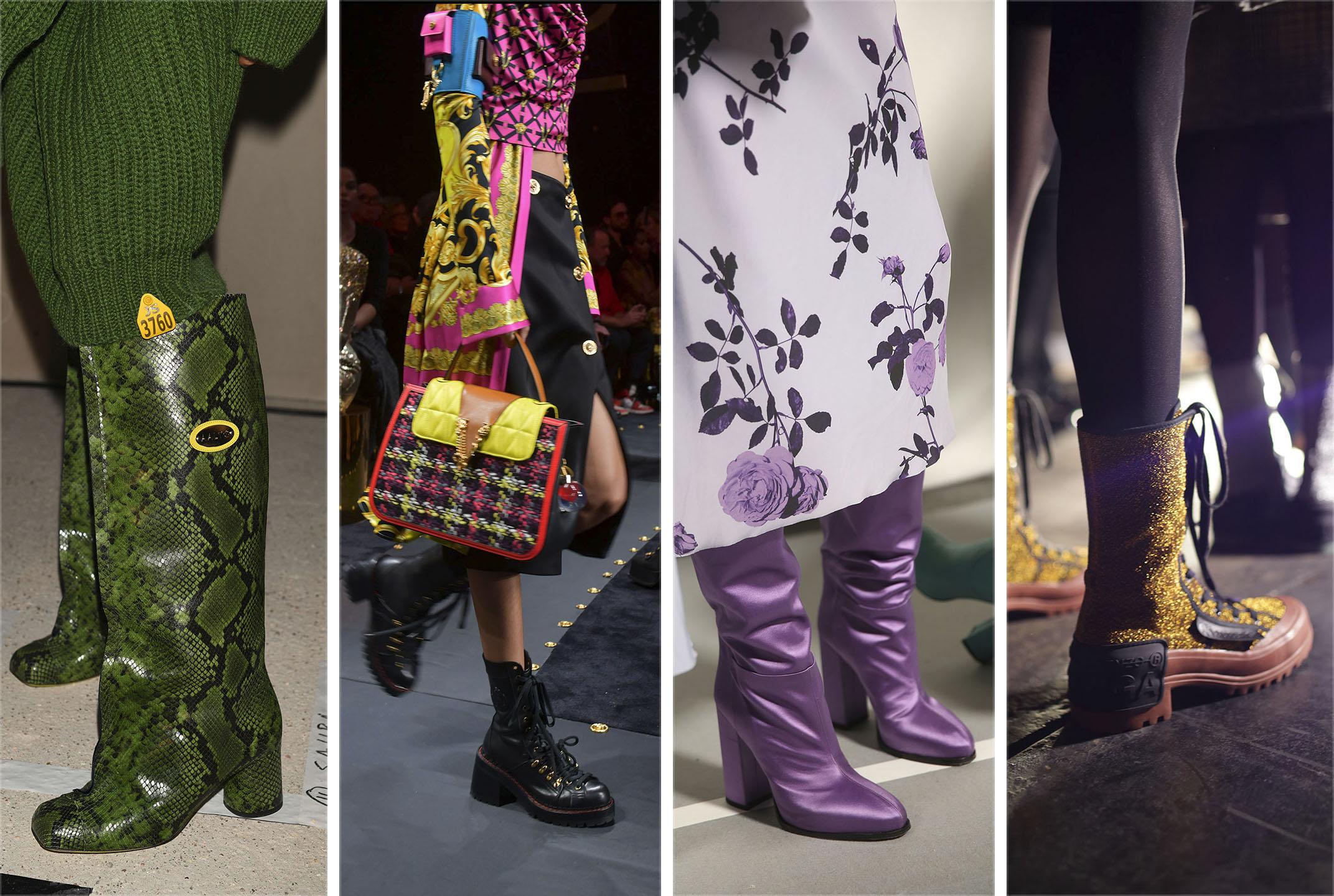 Boots (L-R): Aalto, Versace, Dries Van Noten, Marco de Vincenzo