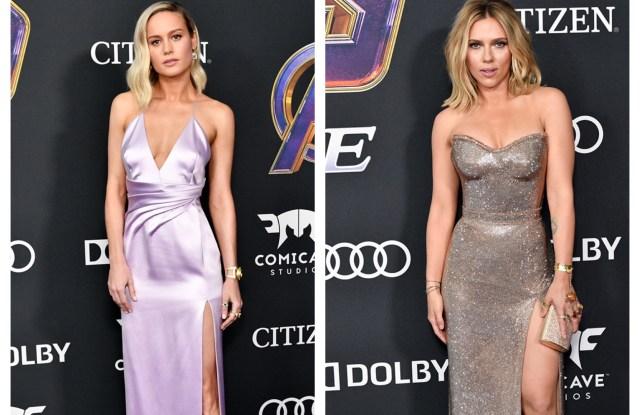 Brie Larson Scarlett Johansson Wear Avengers Rings At L A Premiere Wwd