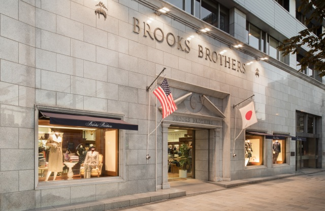 The first Brooks Brothers store in Japan in Aoyama.