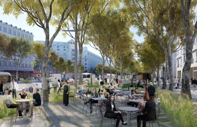 Rendering of the Champs Elysees