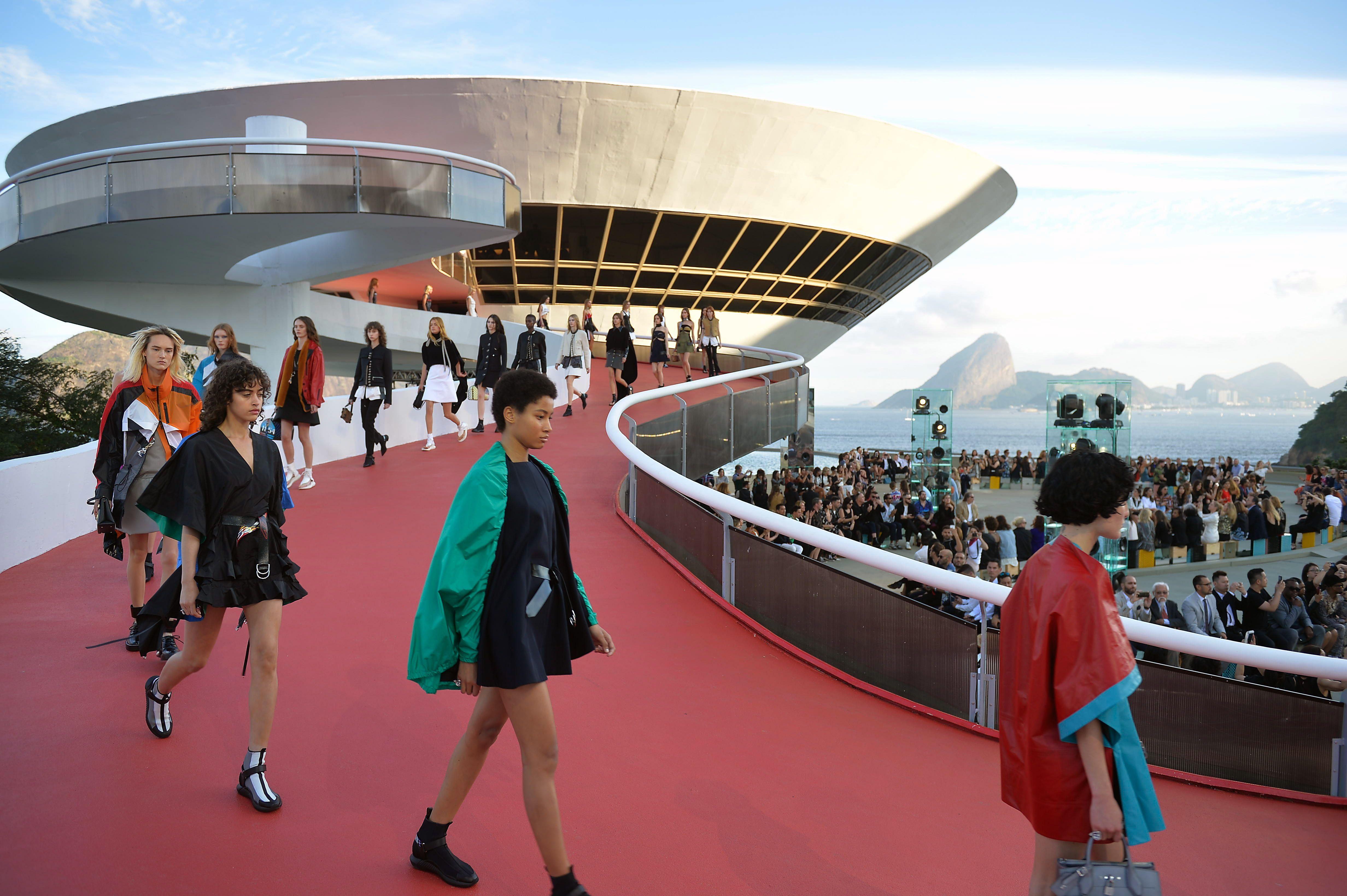 Louis Vuitton's Cruise 2017 Collectionin show in Rio De Janeiro, Brazil.