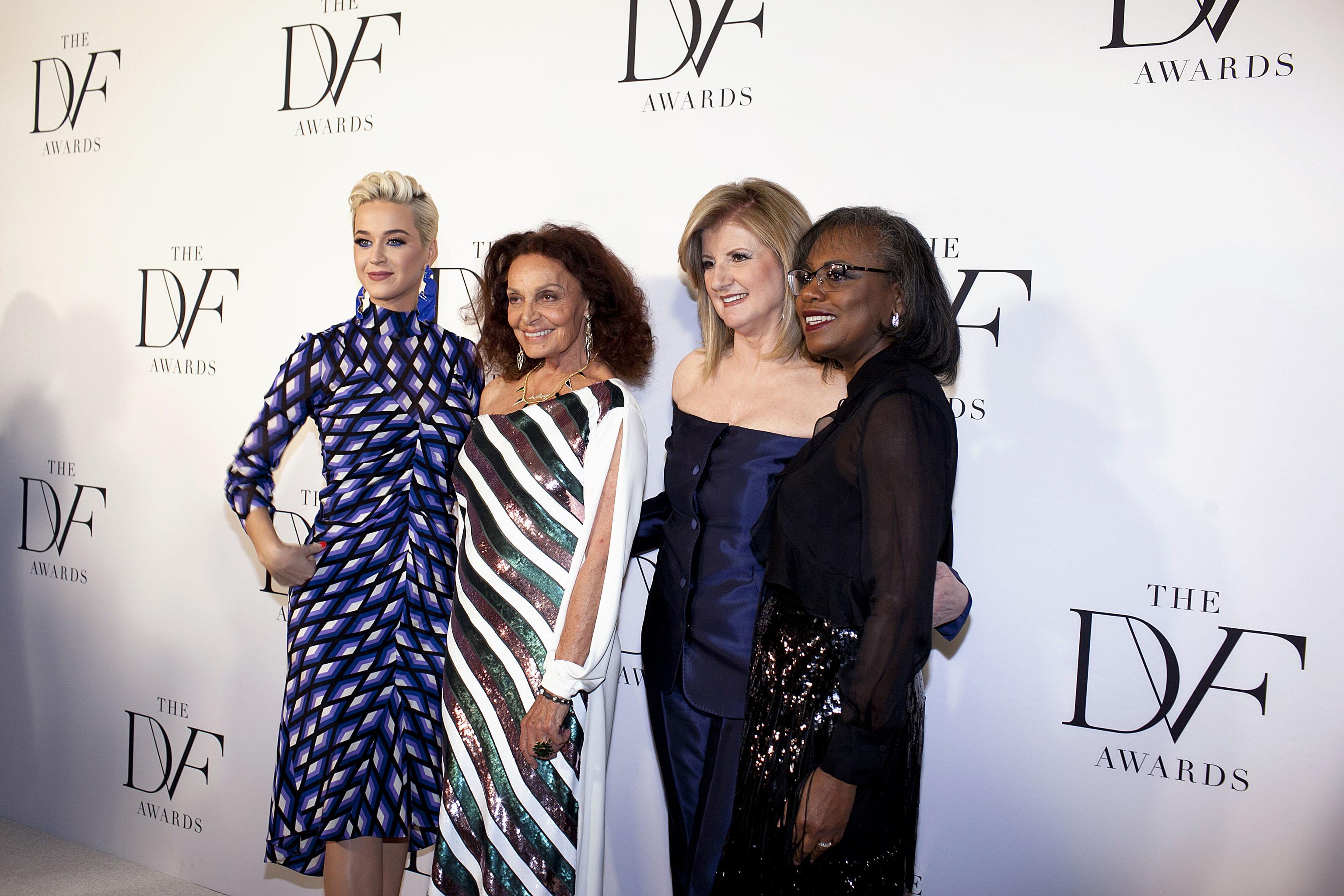 Katy Perry, Diane von Furstenberg, Arianna Huffington, Anita Hill