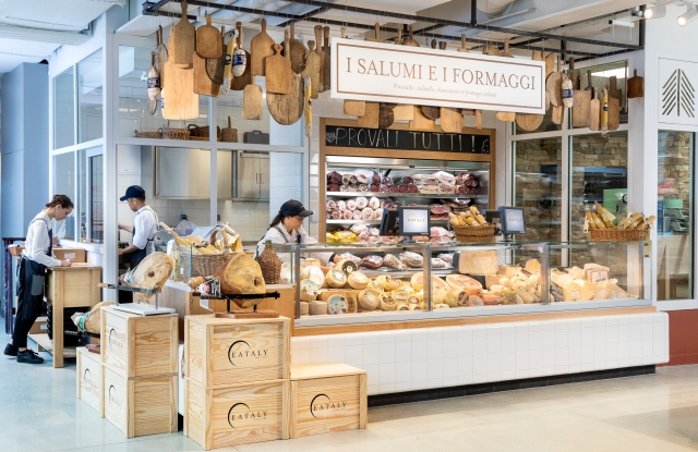 The meat and cheese counter at Eataly Paris Marais