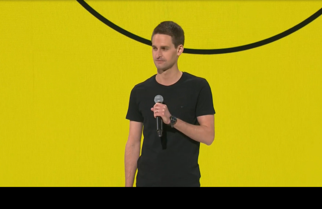 Snap Inc. chief executive officer Evan Spiegel.