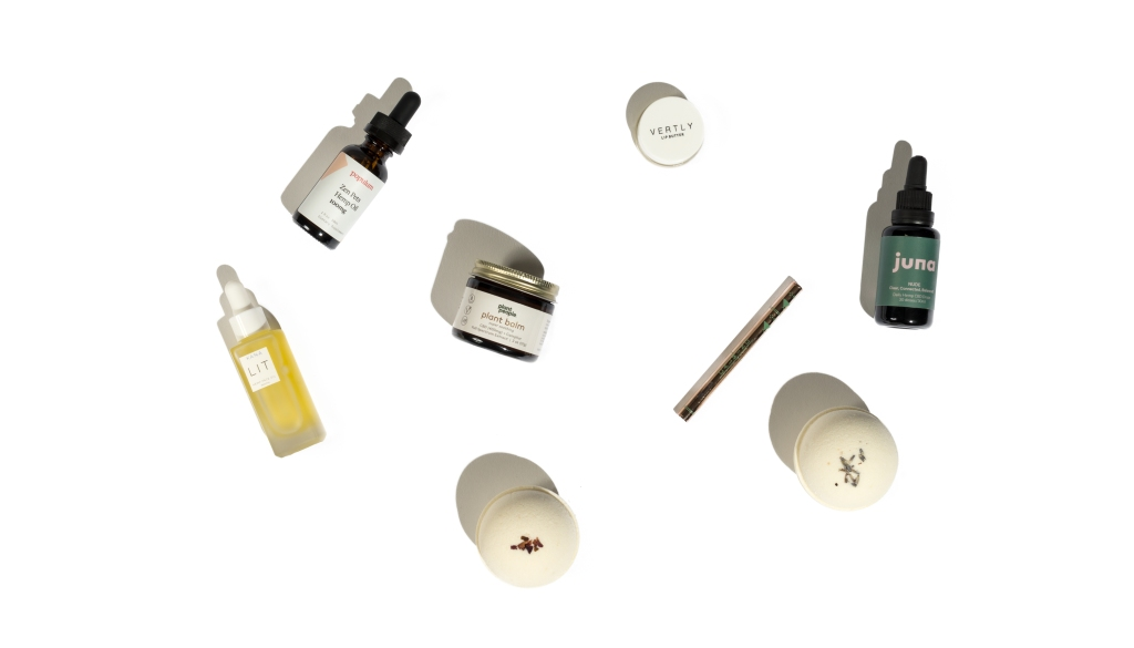 A sampling of the products and brands Fleur Marché offers.