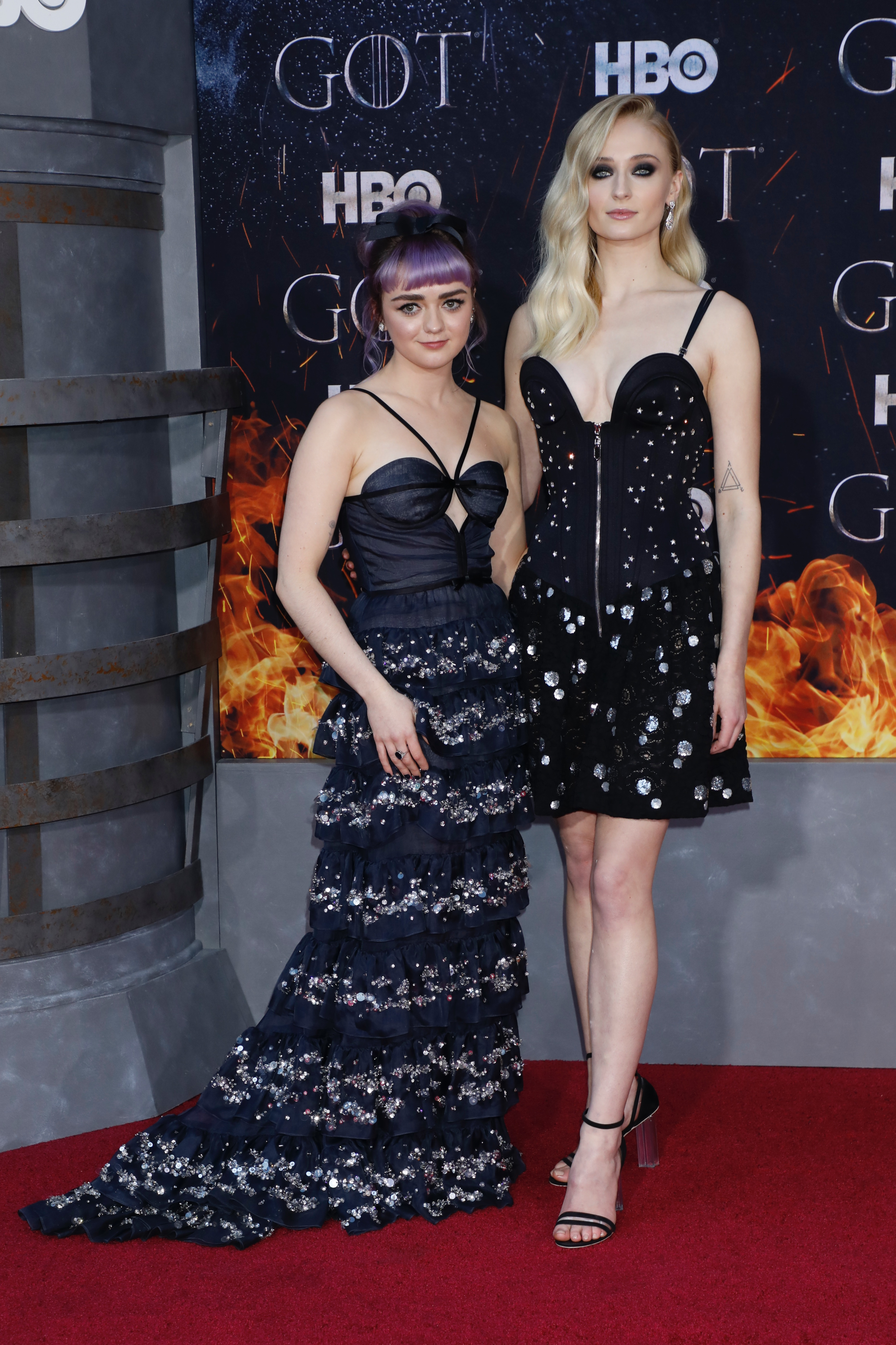 Maisie Williams and Sophie Turner'Game of Thrones' season eight premiere, Arrivals, New York, USA - 03 Apr 2019