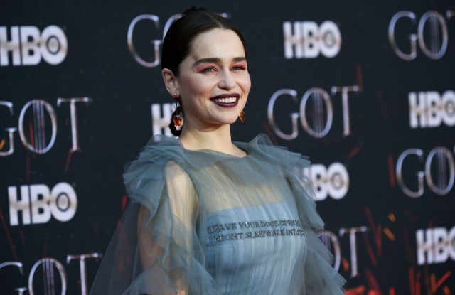 "Emilia Clarke attends HBO's ""Game of Thrones"" final season premiere at Radio City Music Hall, in New YorkNY Premiere of ""Game of Thrones"" Final Season, New York, USA - 03 Apr 2019"
