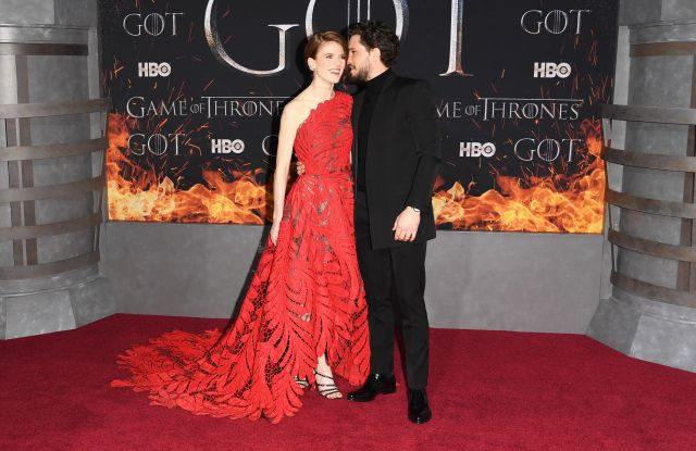 Rose Leslie and Kit Harington'Game of Thrones' season eight premiere, Arrivals, New York, USA - 03 Apr 2019