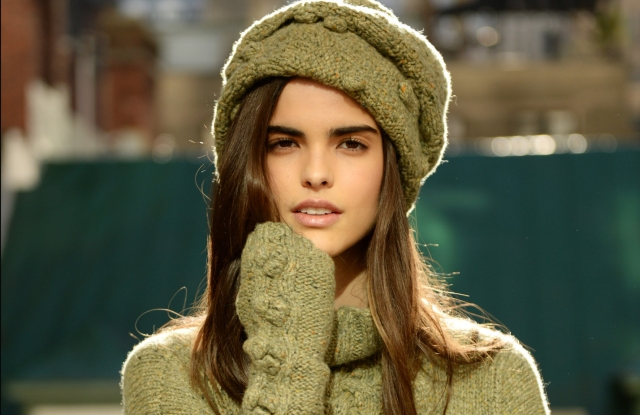 A fall cashmere sweater and hat from Hania New York.