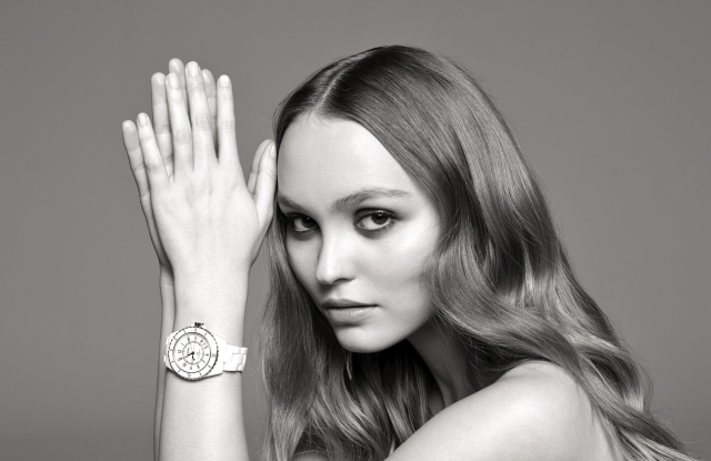 Lily-Rose Depp in Chanel J-12 watch campaign
