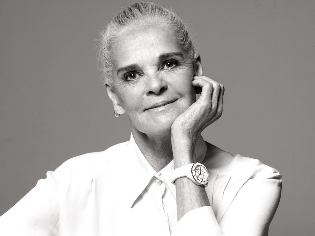 Ali MacGraw in Chanel J-12 campaign