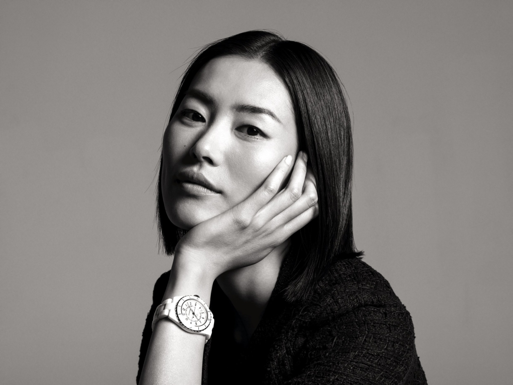 Lieu Wen in Chanel J-12 campaign