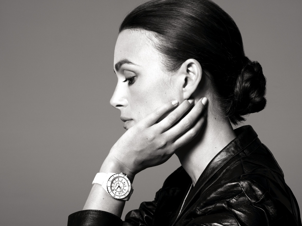 Keira Knightly in Chanel J-12 campaign