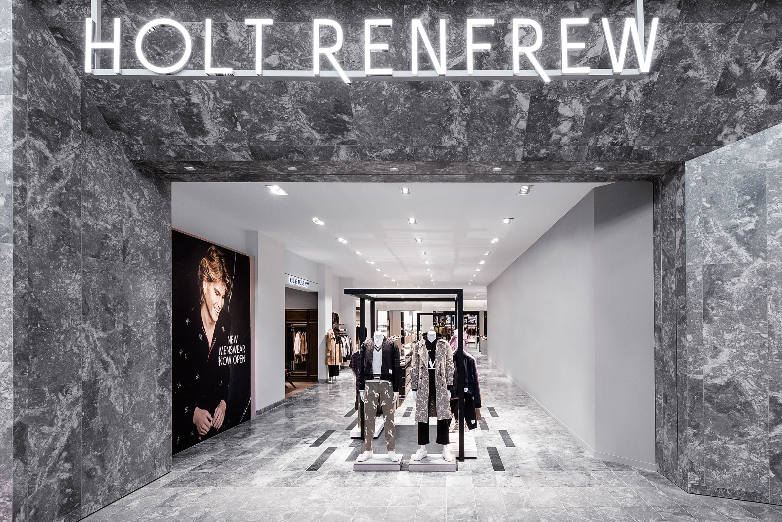 The Holt Renfrew Yorkdale Menswear section..