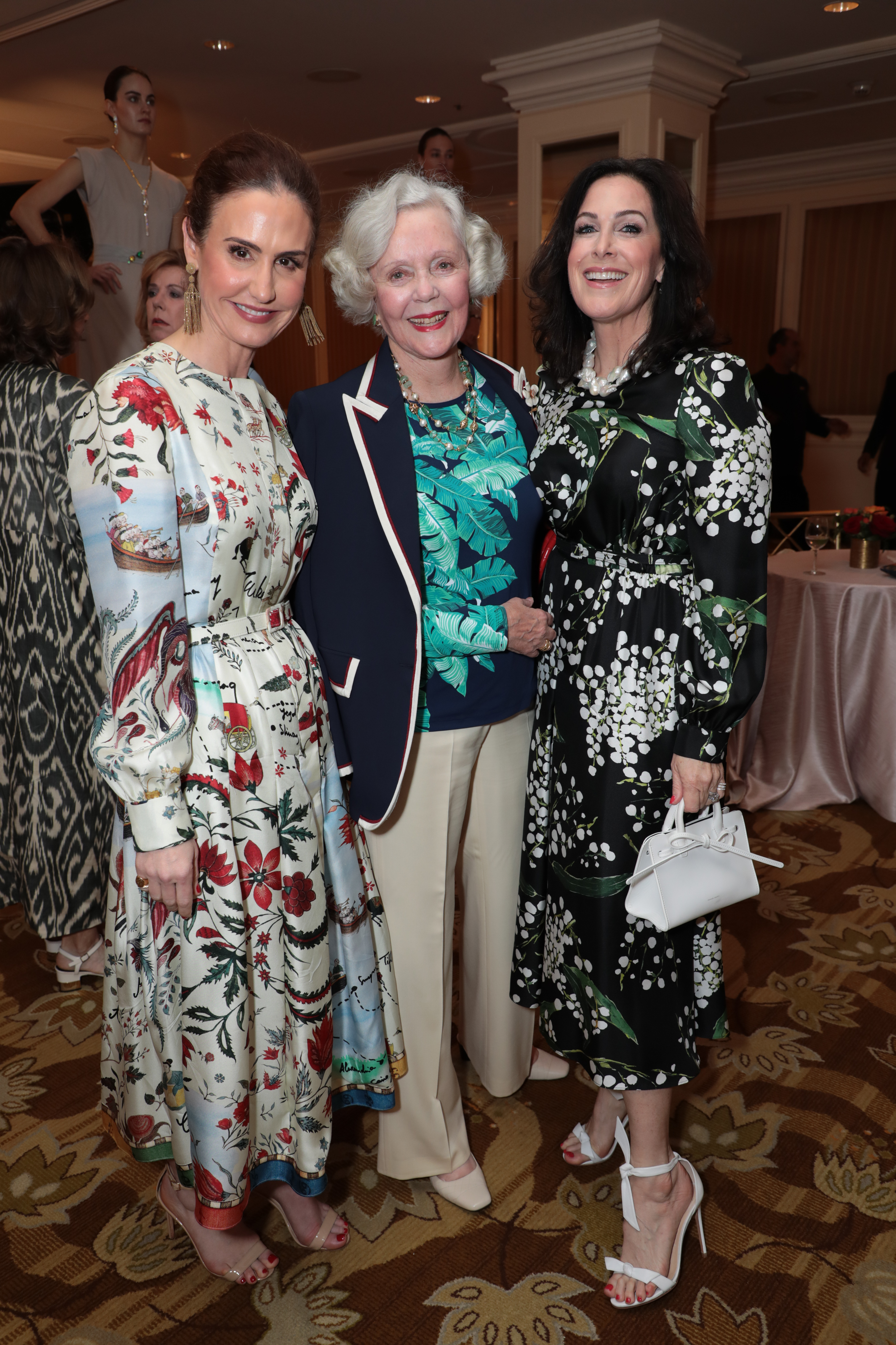 Cara Leonetti Esposito, Topsy Doheny and Bridget Glass Keller attend as The Colleagues host their 31st annual Spring Luncheon and Oscar de la Renta fashion presentation at the Beverly Wilshire Hotel on Tuesday, April 9, 2019 in Beverly Hills, CA (photo: Alex J. Berliner/ABImages)