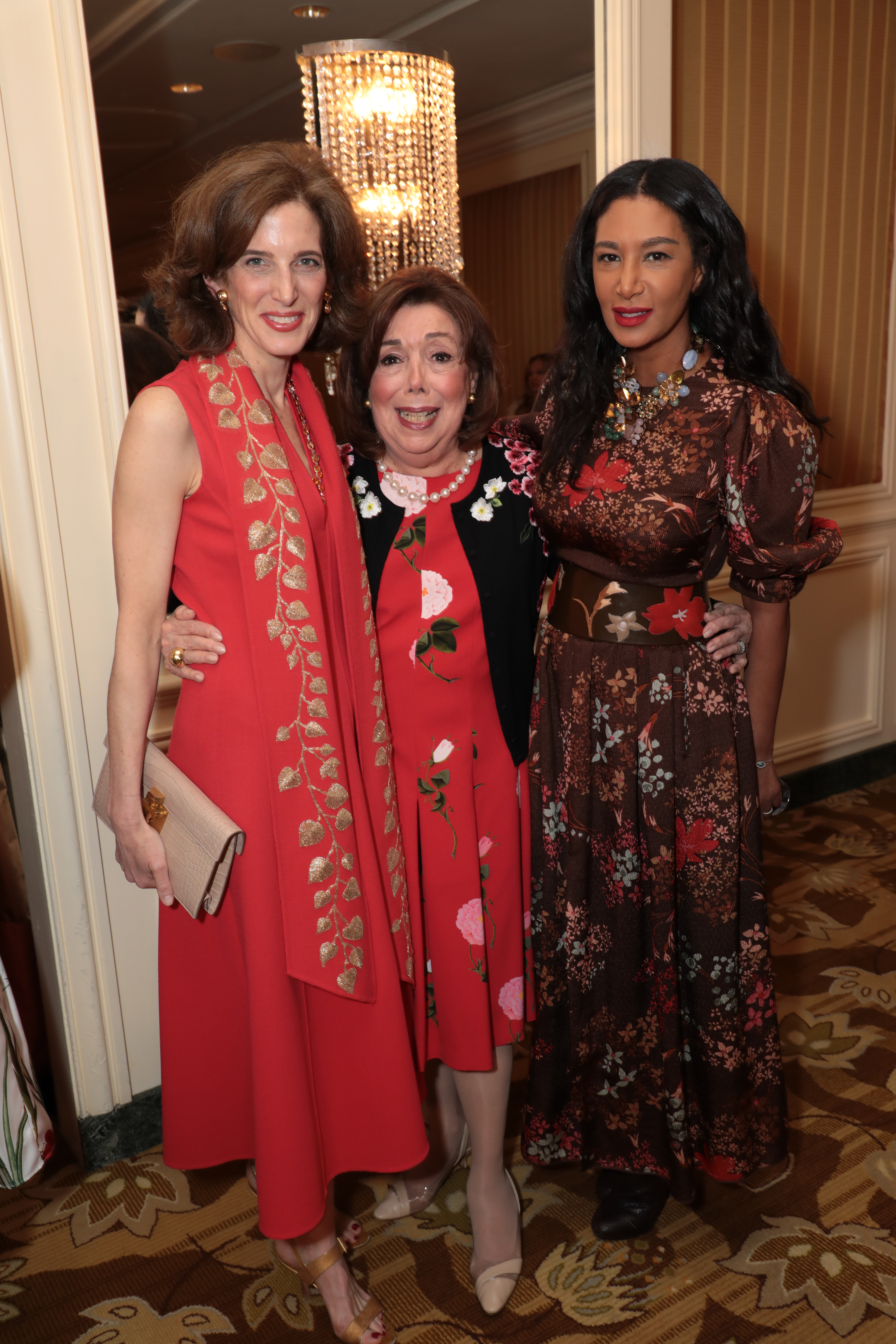 Eliza Reed Bolen, Anne Johnson and Gelila Puck attend as The Colleagues host their 31st annual Spring Luncheon and Oscar de la Renta fashion presentation at the Beverly Wilshire Hotel on Tuesday, April 9, 2019 in Beverly Hills, CA (photo: Alex J. Berliner/ABImages)
