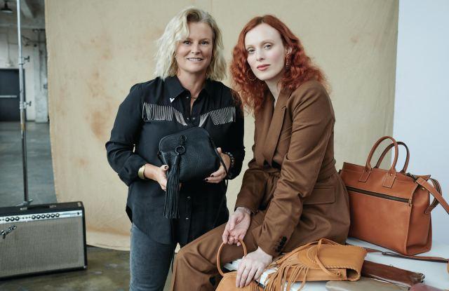Hobo's founder, Koren Ray with model, Karen Elson.