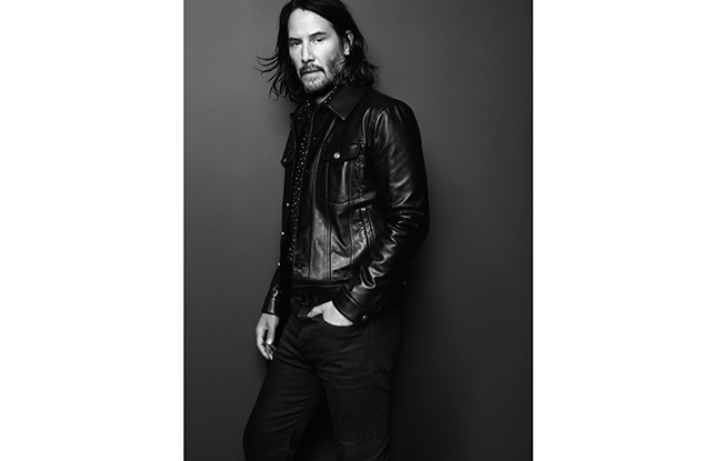 Keanu Reeves in the Saint Laurent campaign