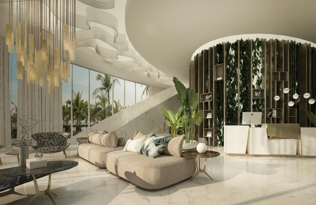 The lobby of the Mare real estate development