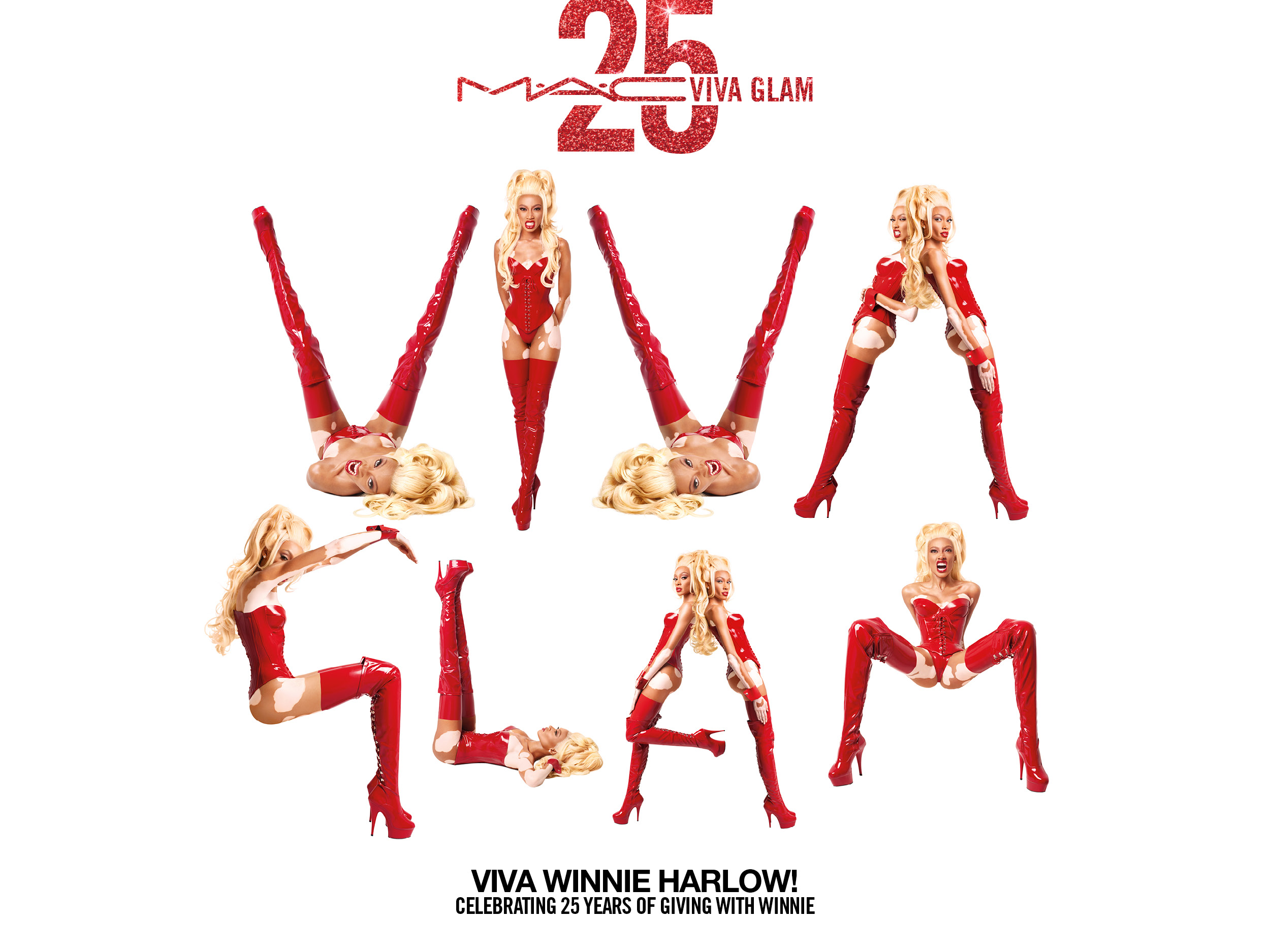 Winnie Harlow pays homage to RuPaul in her campaign for MAC's Viva Glam Fund.