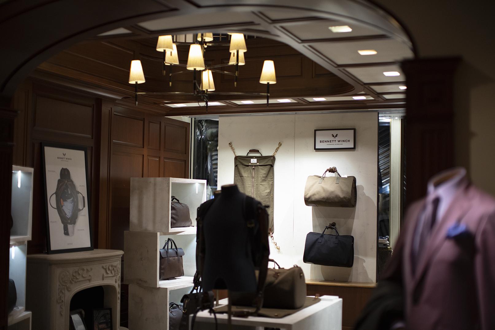 The Bennett Winch shop at Turnbull & Asser.