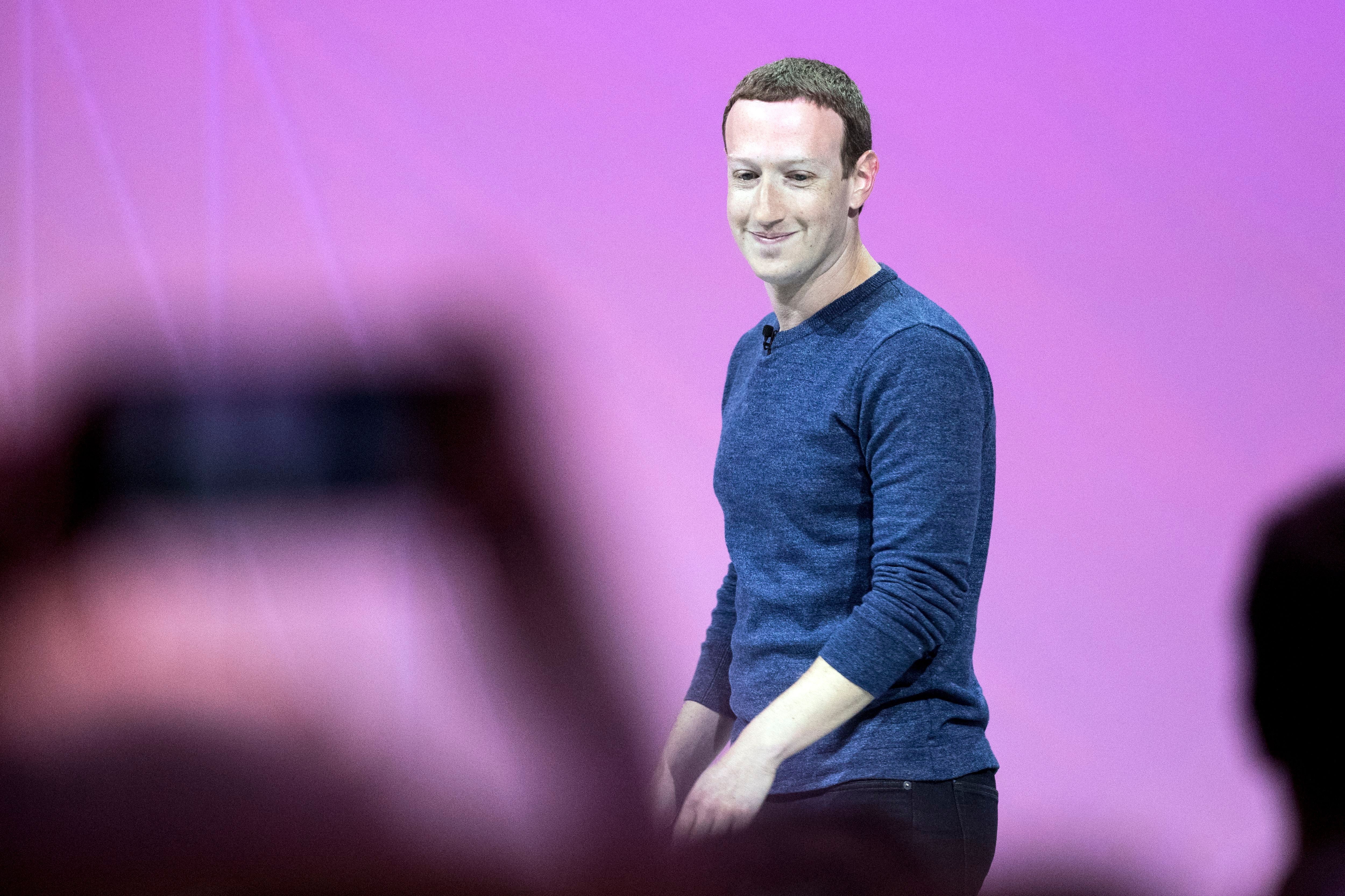 Mark ZuckerbergVivaTech fair in Paris, France - 24 May 2018Facebook CEO Mark Zuckerberg arrives on stage during the VivaTech fair in Paris, France, 24 May 2018. The annual commercial convention runs from the 24 to 26 May.