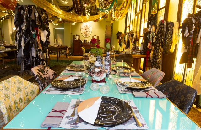 Antonio Marras temporary restaurant at Milan Design Week.