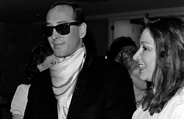 Michael Katz and Susie Bagwell at The Gazebo (Dallas boutique) luncheon and fashion show benefiting the Leukemia Society of America in 1985.