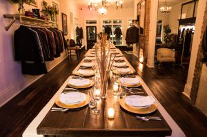 A Supper Series setup in the New Orleans store.