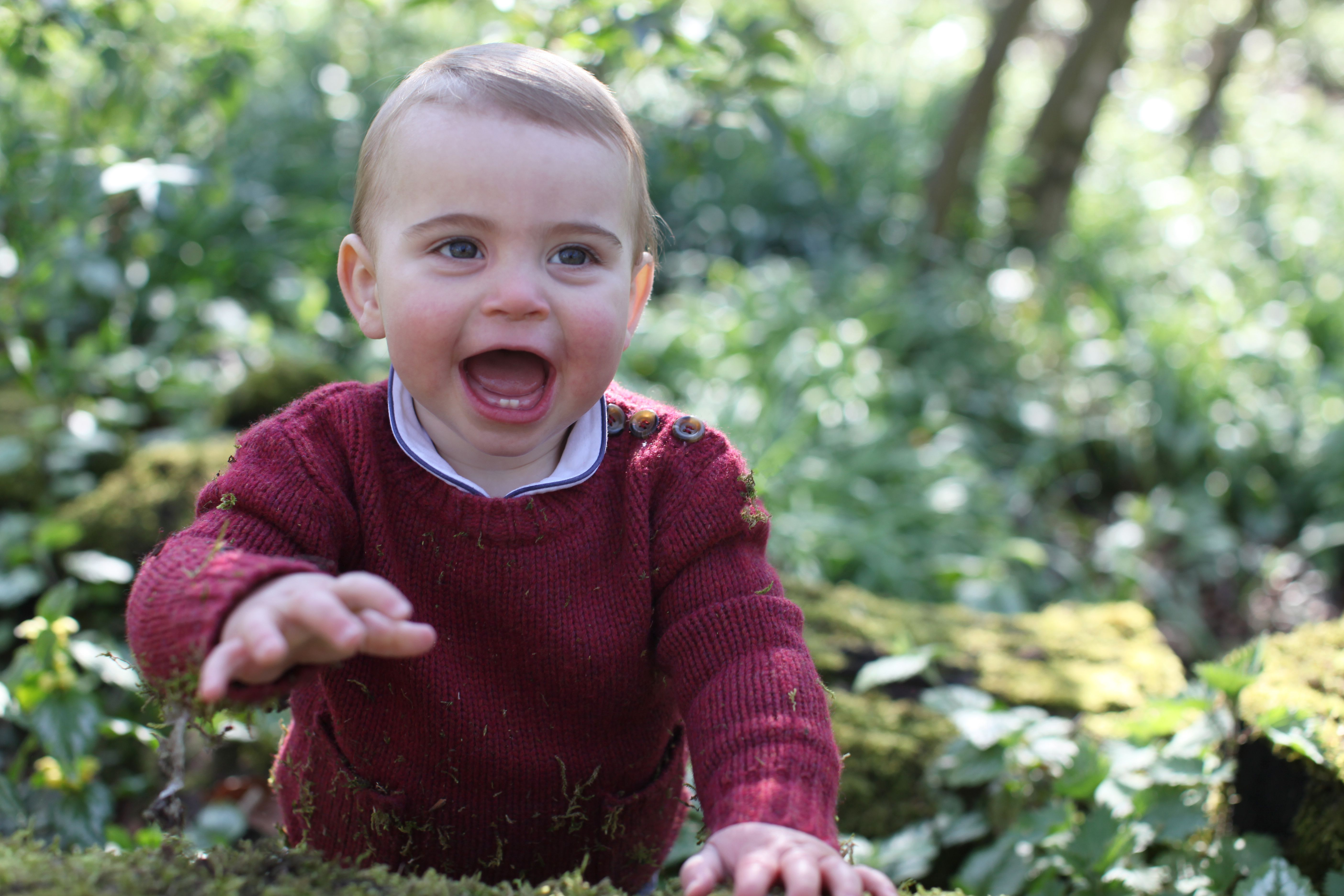 Please see supplementary info for special instructionsMandatory Credit: Photo by REX/Shutterstock (10216423c)Handout photo of Prince Louis taken by his mother, Catherine Duchess of Cambridge, at their home in Norfolk earlier this month, to mark his first birthday on TuesdayPrince Louis, Norfolk, UK - 2019EMBARGOED TO 2230 MONDAY APRIL 22Copyright: HRH The Duchess of Cambridge 2018. NEWS EDITORIAL USE ONLY. NO COMMERCIAL USE. NO MERCHANDISING, ADVERTISING, SOUVENIRS, MEMORABILIA or COLOURABLY SIMILAR. NOT FOR USE AFTER 31 DECEMBER, 2019 WITHOUT PRIOR PERMISSION FROM KENSINGTON PALACE. This photograph is provided to you strictly on condition that you will make no charge for the supply, release or publication of it and that these conditions and restrictions will apply (and that you will pass these on) to any organisation to whom you supply it. There shall be no commercial use whatsoever of the photographs (including by way of example only) any use in merchandising, advertising or any other non-news editorial use. The photographs must not be digitally enhanced, manipulated or modified in any manner or form and must include all of the individuals in the photograph when published. All other requests for use should be directed to the Press Office at Kensington Palace in writing.