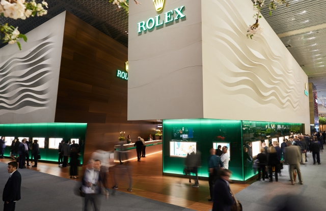 The Rolex booth at the Baselworld 2019 fair